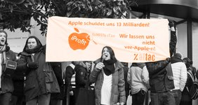 Protestaktion gegen Apple