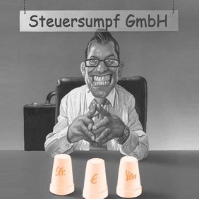 Cartoon Steuersumpf